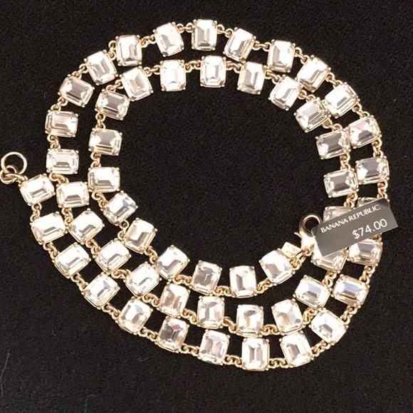 Banana Republic Diamond Tennis Necklace
